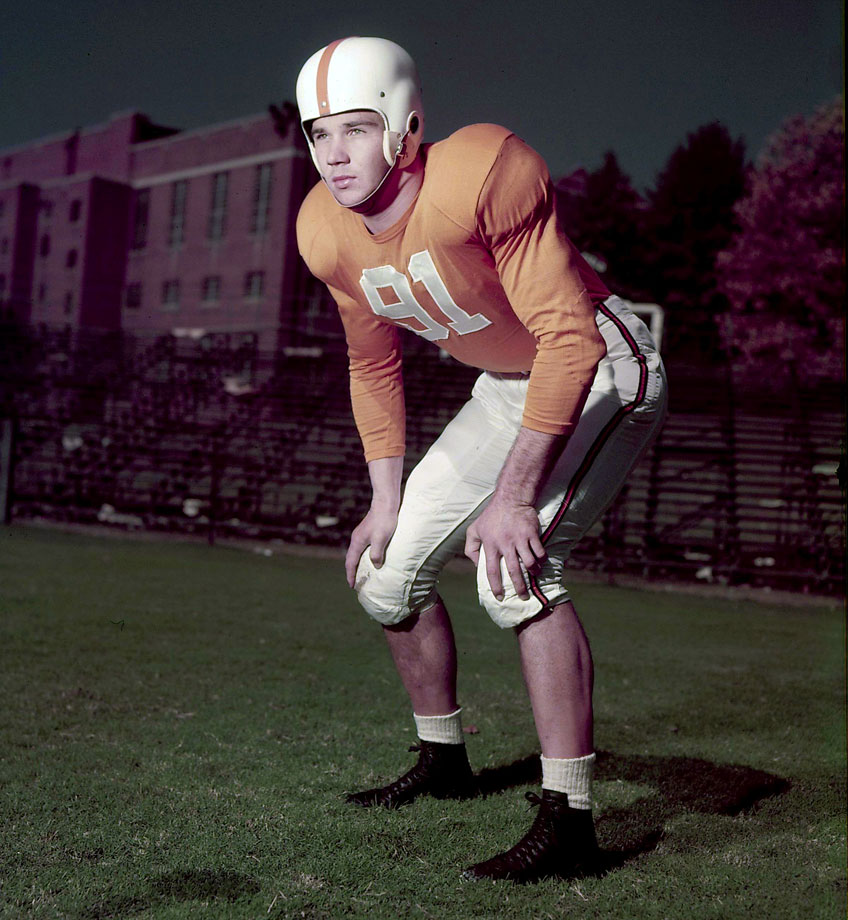 Atkins was an All-SEC player in his junior season after moving to defensive tackle from end. The Vols won a national championship in 1951, and led the nation in total defense during Atkins' All-America season in 1952. — Runner-up: Dewey Selmon, NG, Oklahoma (1972-75)