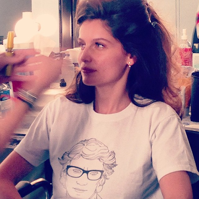 Ain't Laurent without @LaetitiaCas. One of our favorite #YSL muses preps for a shoot with @AarondeMey1 + @Mario_Sorrenti_2. #IMGirls | @IvanMBart