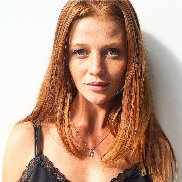 Our favorite redhead, the super sexy Cintia Dicker, came up for a visit today! #gqwomen #gq @cintiadicker