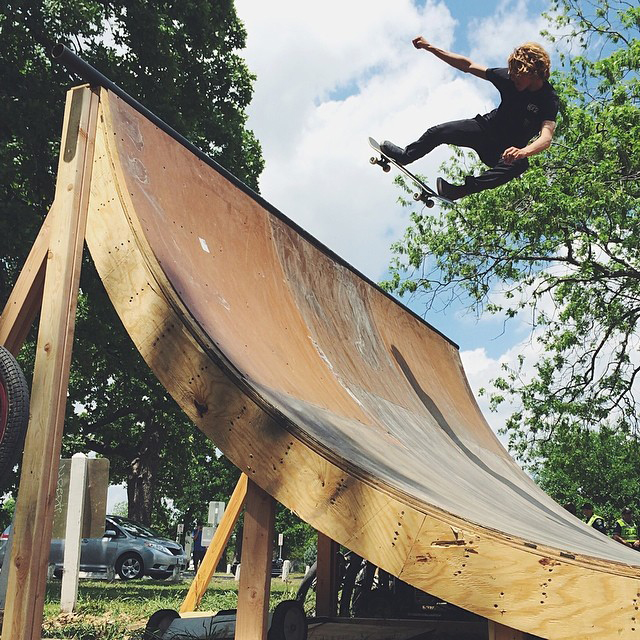 @currencaples hittin' the quarter pipe today. @xgames #xgamesatx #xgamesaustin