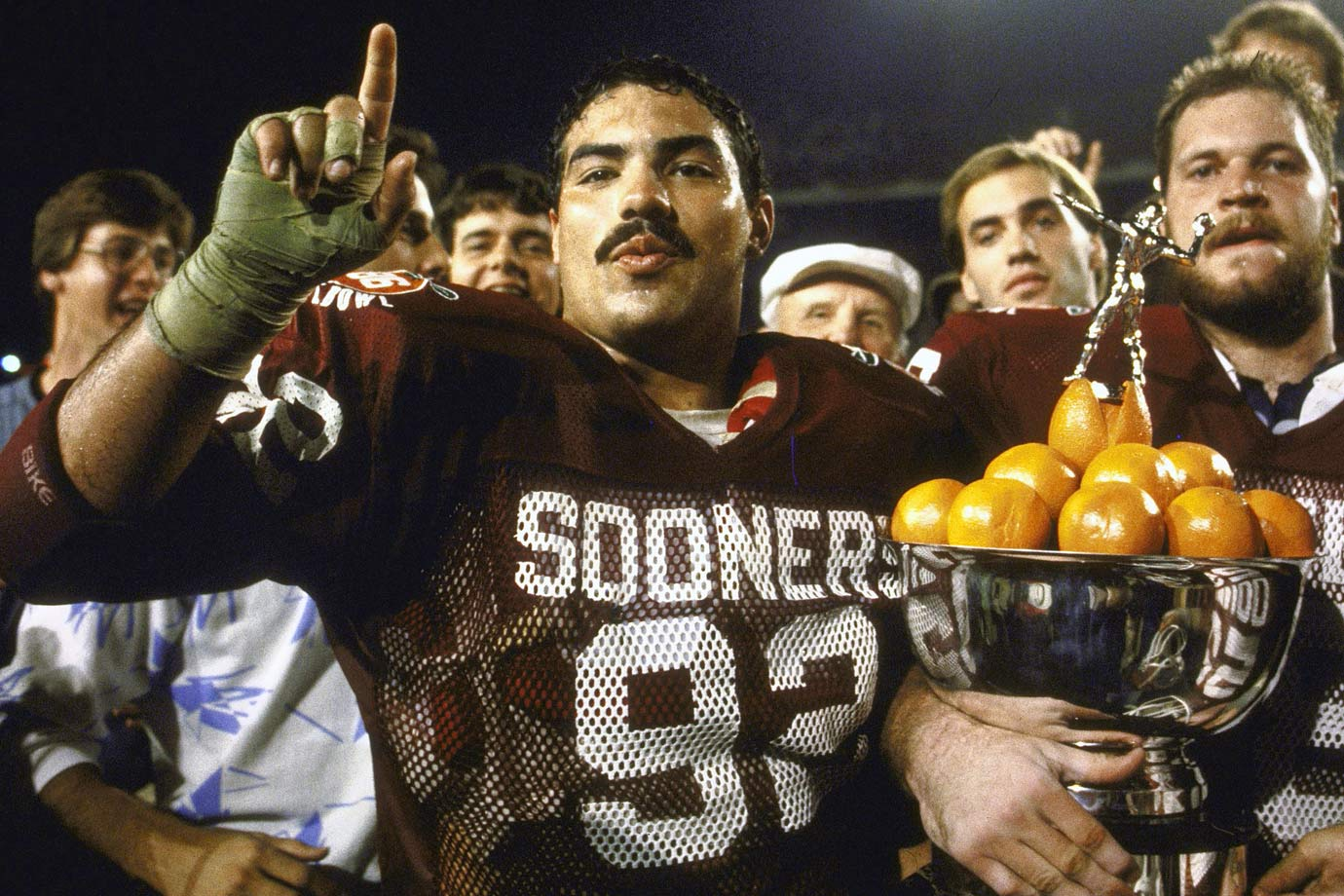 Casillas was a menace to quarterbacks. He won the 1985 Lombardi and helped the Sooners win a national title in '85. — Runner-up: Reggie White, DT, Tennessee (1980-83)