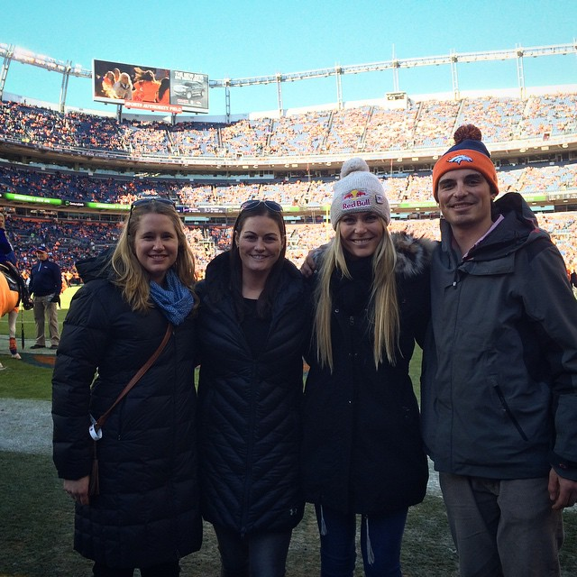 At the #Broncos game with the @vail2015 folks and my crew @thealigator @lindsaywinninger and my bro Reed :) #GObroncos