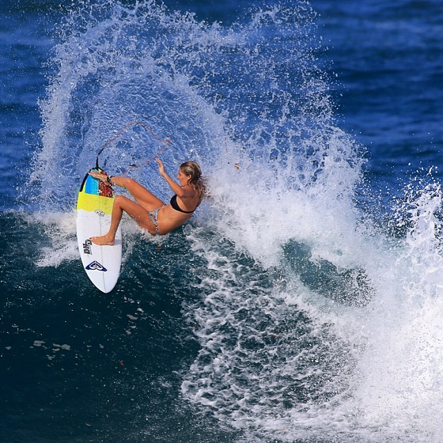 Stephanie Gilmore is a five-time champion on the ASP World Tour, claiming four of those titles consecutively (2007-2010). The Australian surfer has carved out a career that began with a 2005 Roxy Pro Gold Coast win, then she appeared in ESPN's Body Issue and won an ESPY in 2011 for Best Female Action Sport Athlete. For a look into the life of one of the most talented surfers in the sport, follow Stephanie Gilmore onInstagram @stephaniegilmore.