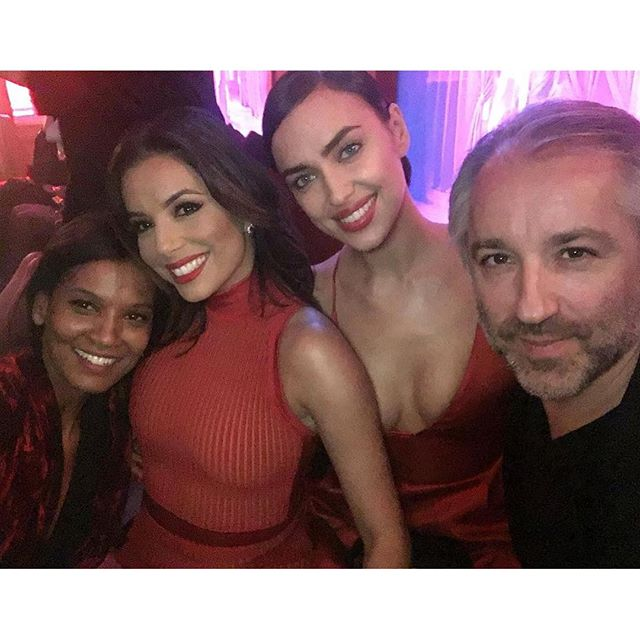 "Repost @evalongoria: ""Having fun with @irinashayk @liyakebede & our fearless leader @chapuyc at L'Oreal Red Obsession Party in Paris!"" @lorealmakeup #Lorealistas #WorthIt"