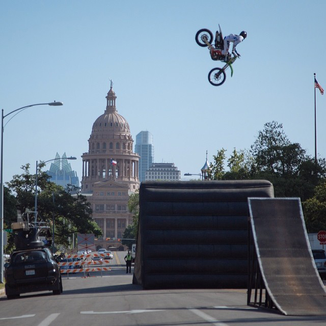 Day Two with Farm Leaguer @machotaildrop and @joshhansen100 taking Austin by storm. #XgamesAustin #mobilefilmlab #ESPN #farmleaguebts