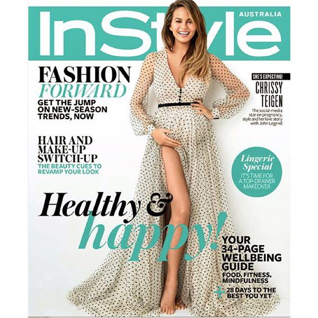 Woohoo! Thank you, @instylemag!! You guys have such a wonderful team - thank you thank you for such a great shoot! So much love to @patrickta and @jrugg8 for glam!!