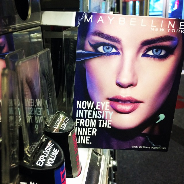 Still cool/weird seeing my @maybelline ads in stores. I love this one I just spotted for Master Kajal liner.