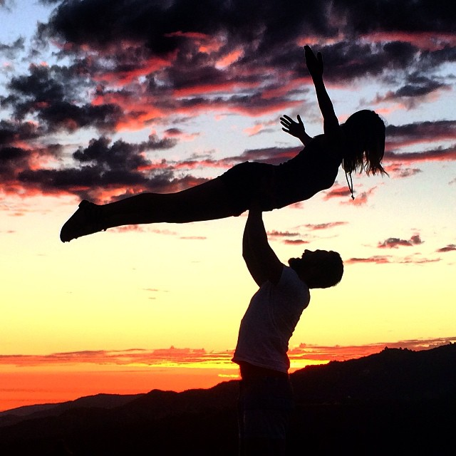 Beautiful #sunset #hike #acroyoga move #dirtydancing