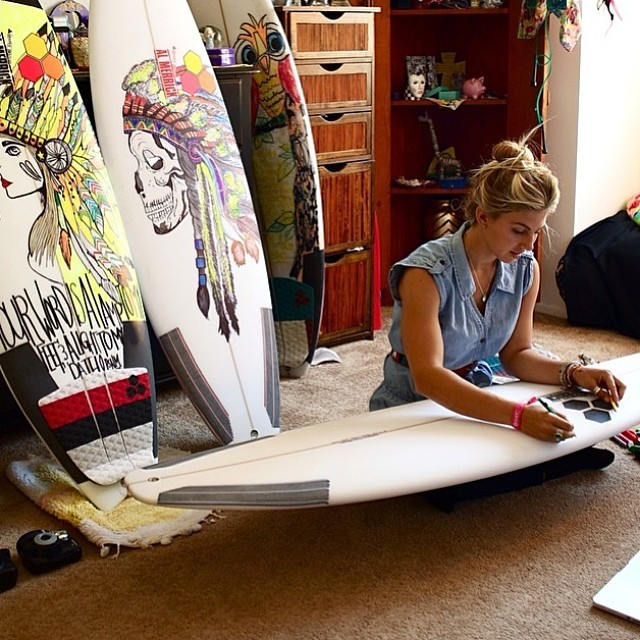 In a professional career that has spanned over seven years, Sage Erickson, 23, is riding high after top five finishes in her last five ASP events. Erickson began surfing as an early teen. Growing up in Ojai, California, Erickson taught herself how to surf and it sure has paid off. For a look into the life of the Oakley-clad, artistic Erickson check her out on Instagram @sageerickson.