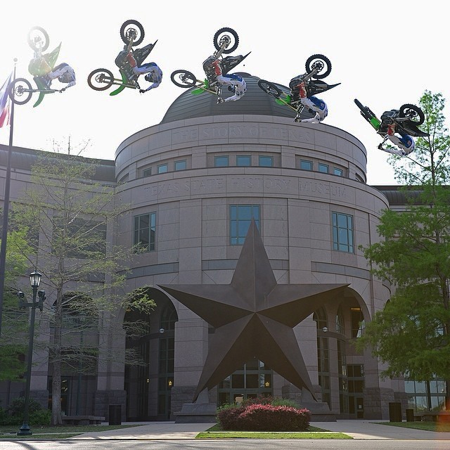 We're about to make history in Austin. @joshhansen100 @bullockmuseum #XGamesAustin (Photo: @phil_ellsworth)