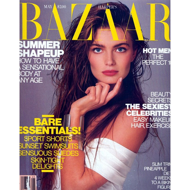 Paulina Porizkova. @harpersbazaarus 1987. #harpersbazaar #supermodel #model #style #fashion #fashioneditorial #fashionphotography #hair #makeup #beautiful #glamour #80s
