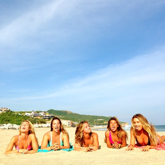 The weirder the better..... Love these girls. @ripcurl_usa #mybikini