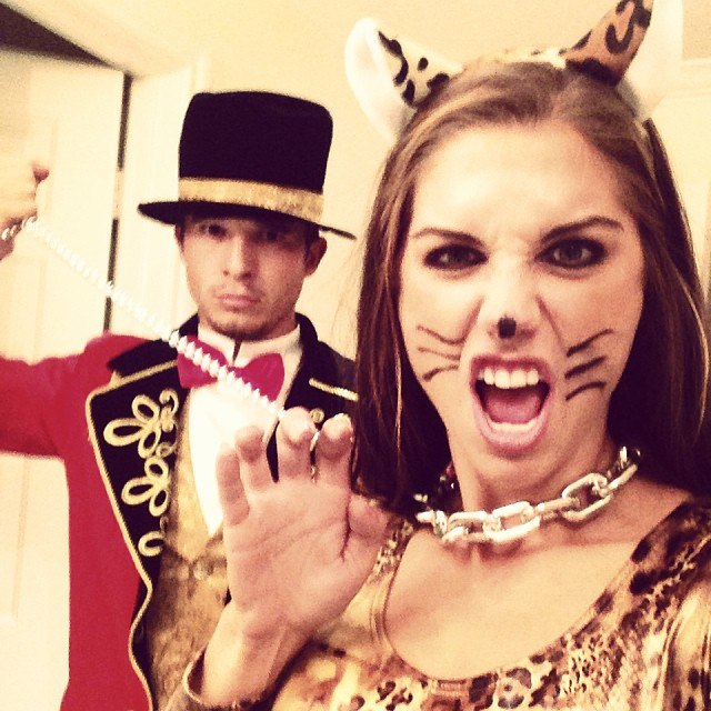 Ringmaster and the Leopard. #HappyHalloween