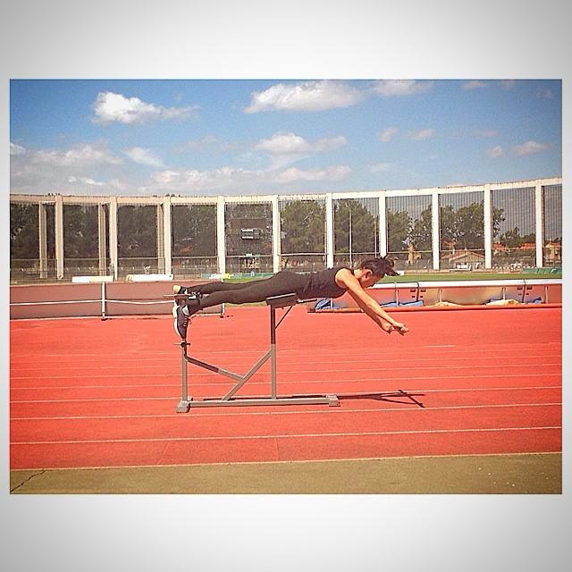 Step 1: TRAIN #Gomesfit #vacayroutine #dedication #trainingevenonholidays #strongback #strongcore #strength #toning emoji