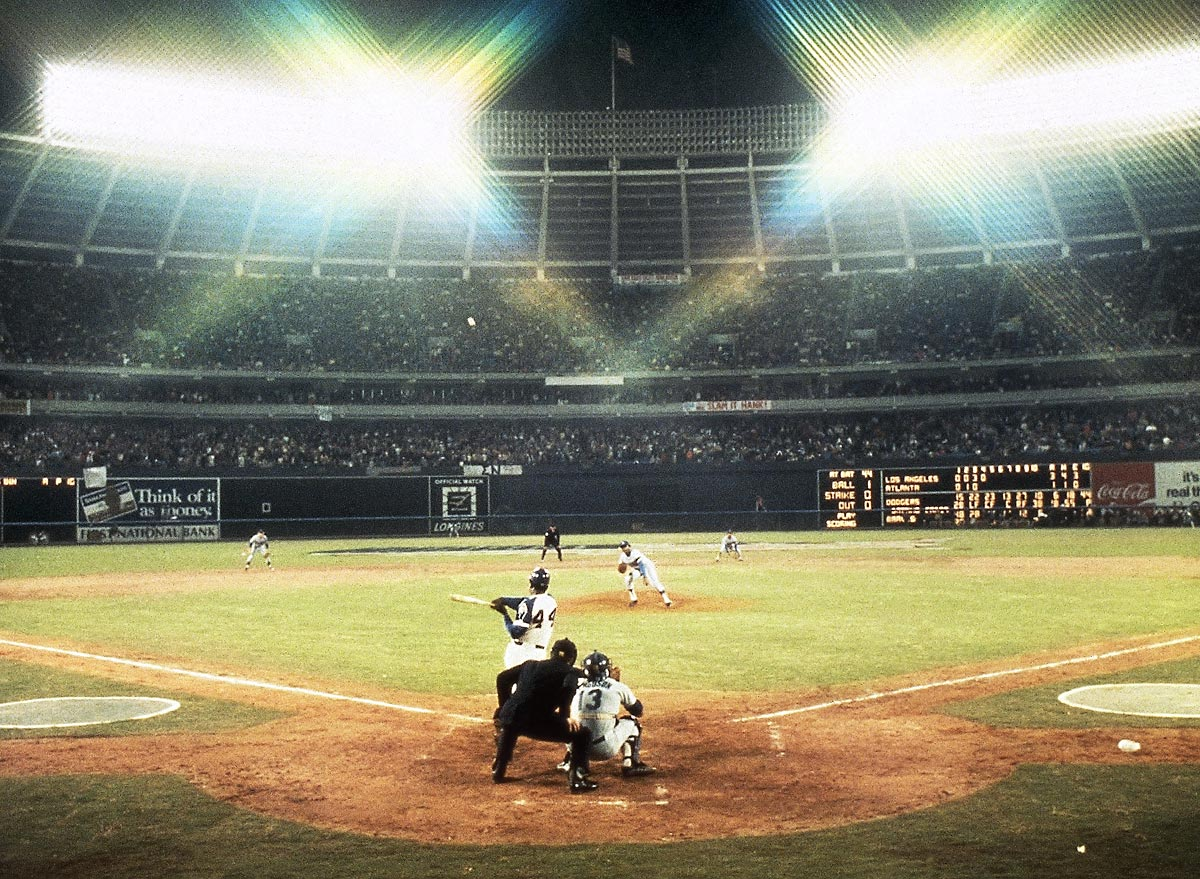 Atlanta, April 8, 1974 | Atlanta Braves outfielder Hank Aaron launches career home run No. 715, surpassing Babe Ruth as the all-time home run leader. Aaron would go on to hit 755 home runs, a record broken by Barry Bonds in 2007.