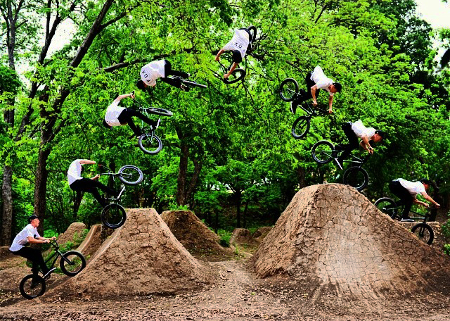 Day Two of the Austin X Games shoot. Here is a sequence of Chase Hawk at the 9th street trails. #xgamesaustin #xgames #austin #bmx (@chase_hawk)