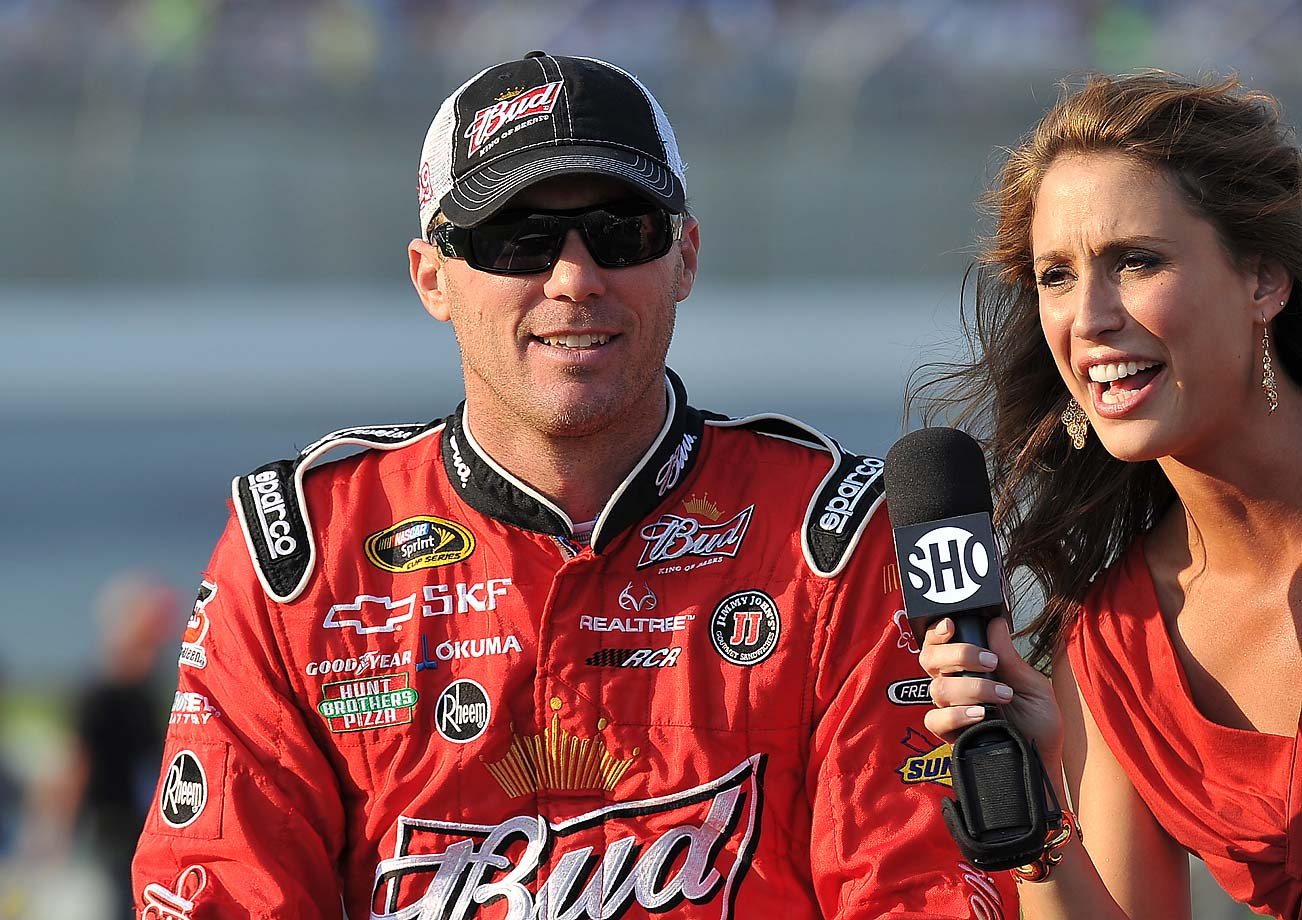 Kevin Harvick prior to the Inaugural Quaker State 400 NASCAR Sprint Cup series race at the Kentucky Speedway in Sparta, in 2011.