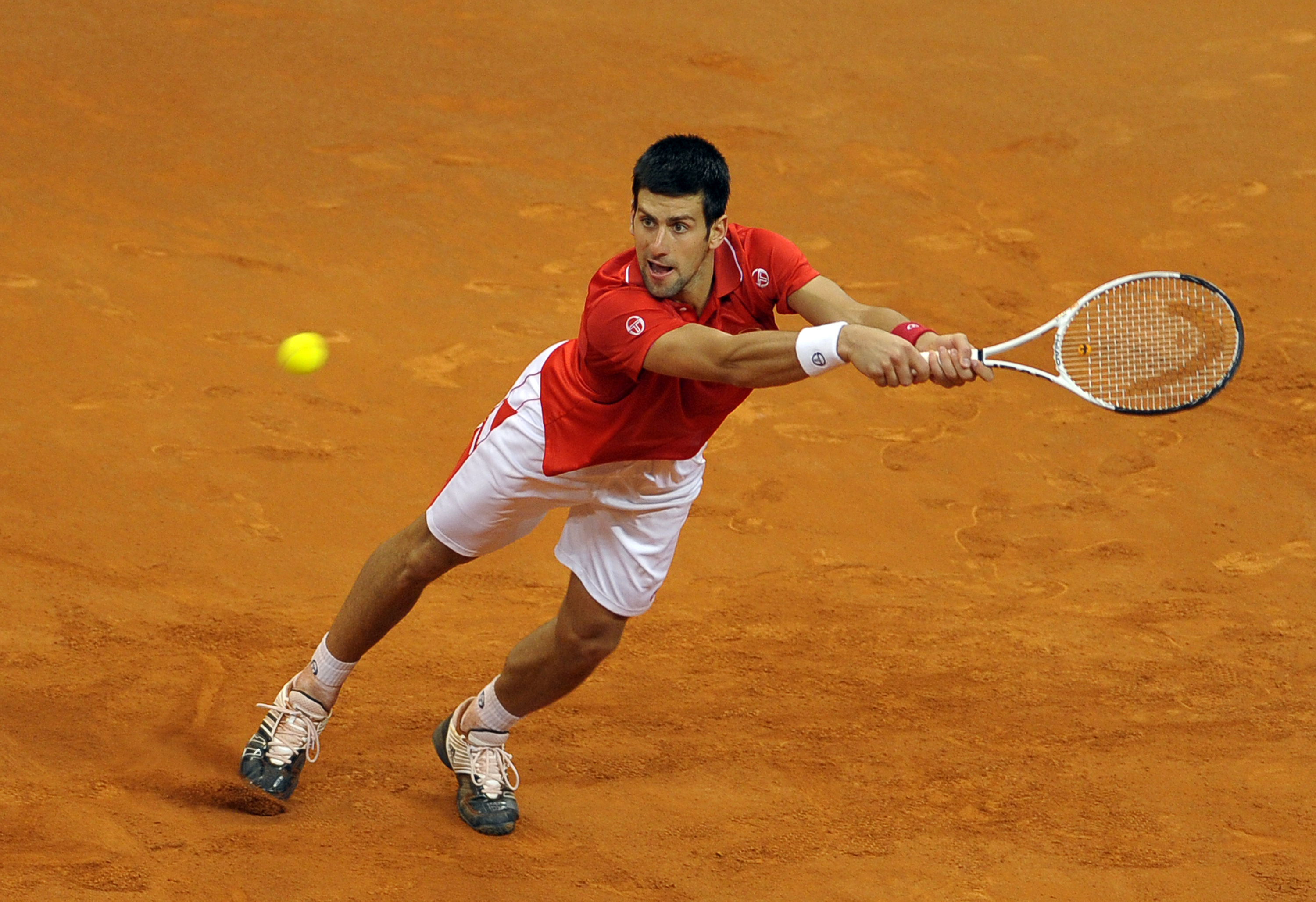 The Serb looked good in red on the clay in the Davis Cup.