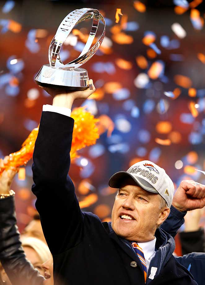 John Elway has a team headed to the Super Bowl for the second time in three years.
