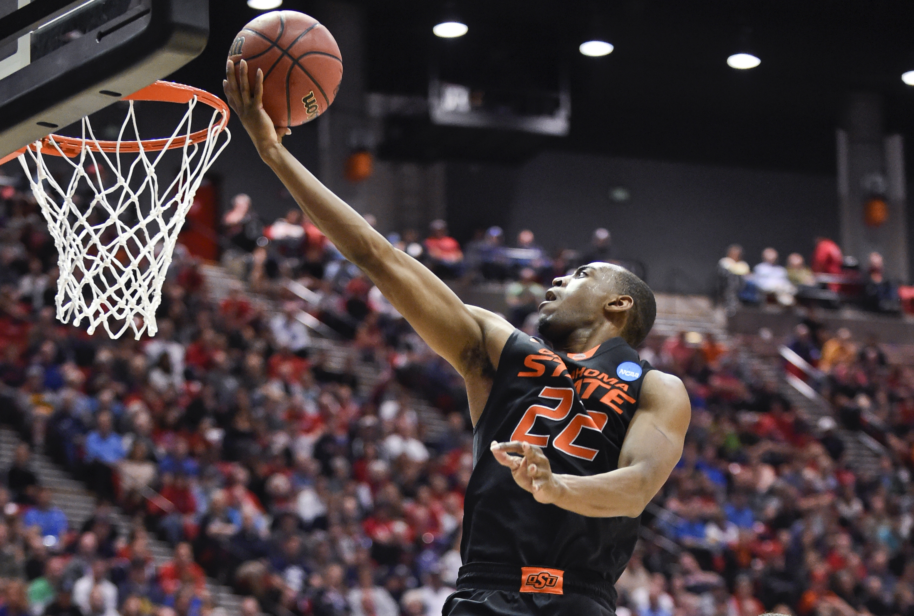 The Oklahoma State senior showed his jumping abilities at the Draft Combine, finishing in first place for the maximum vertical leap and the standing vertical leap and in the top 30 in two other events.