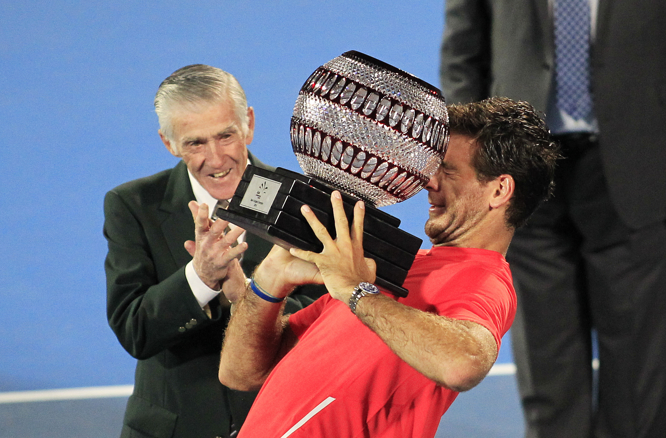 Juan Martin del Potro struggles with his Sydney International haul.