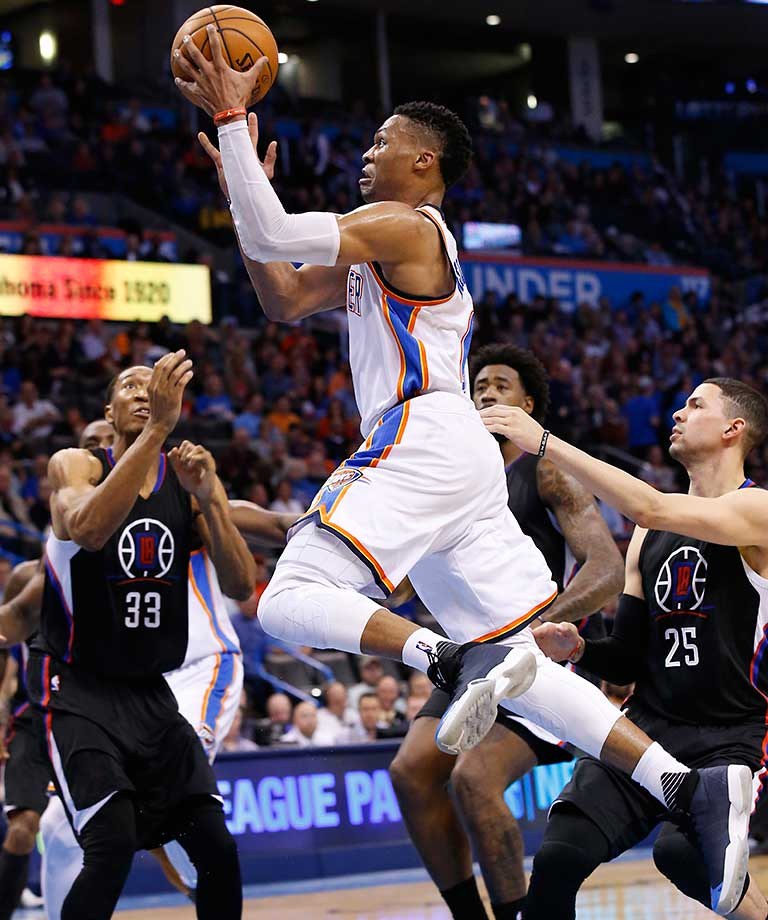 Russell Westbrook had a triple double against the Clippers, with a career-high 20 assists to go with 25 points and 11 rebounds.