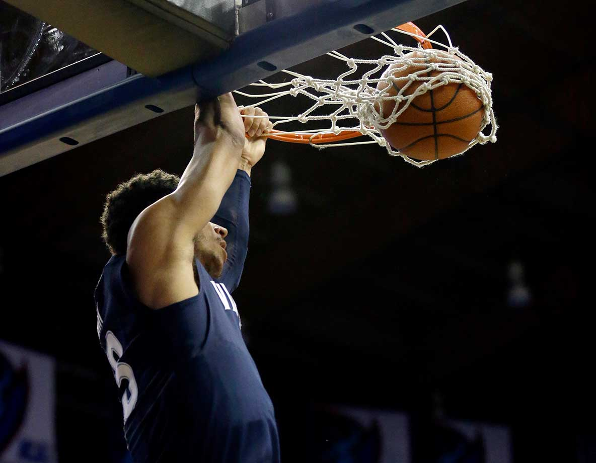 Villanova guard Josh Hart dunks against DePaul in Rosemont, Ill.