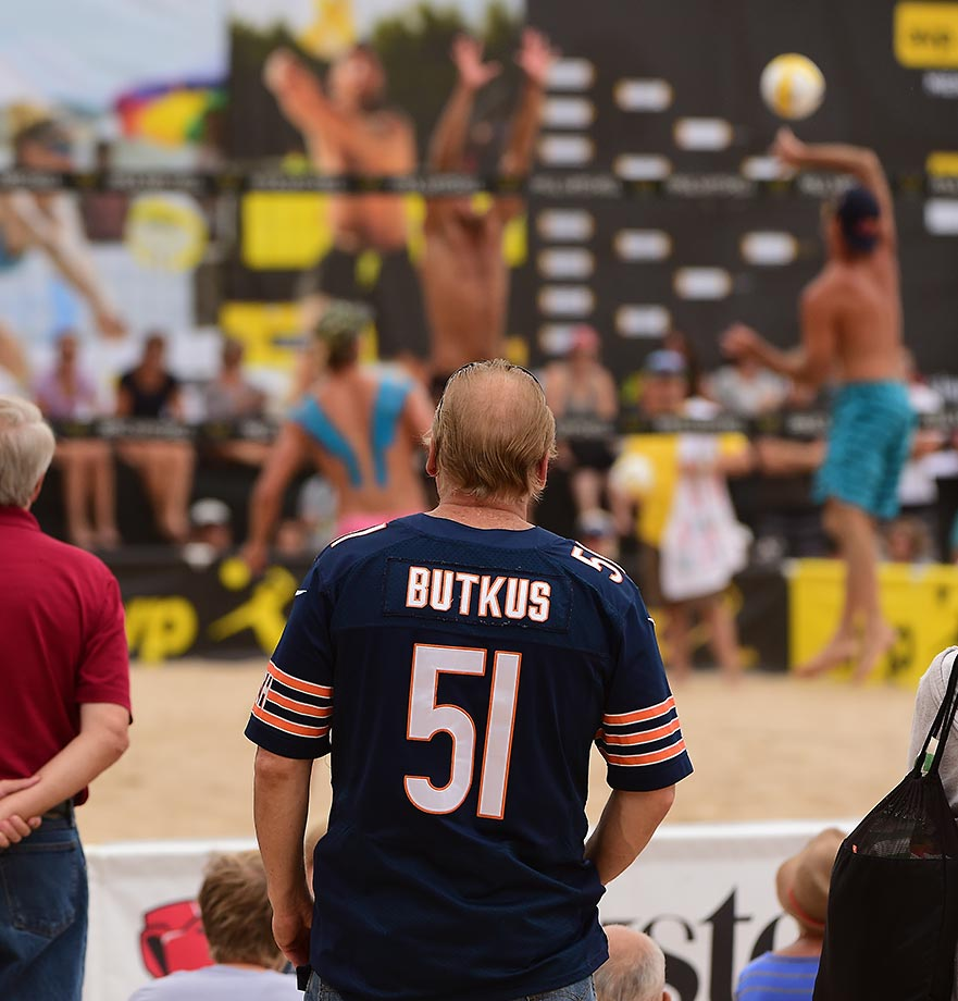 Not Dick Butkus.... but a lot of Chicagoans showed up for the big tournament.