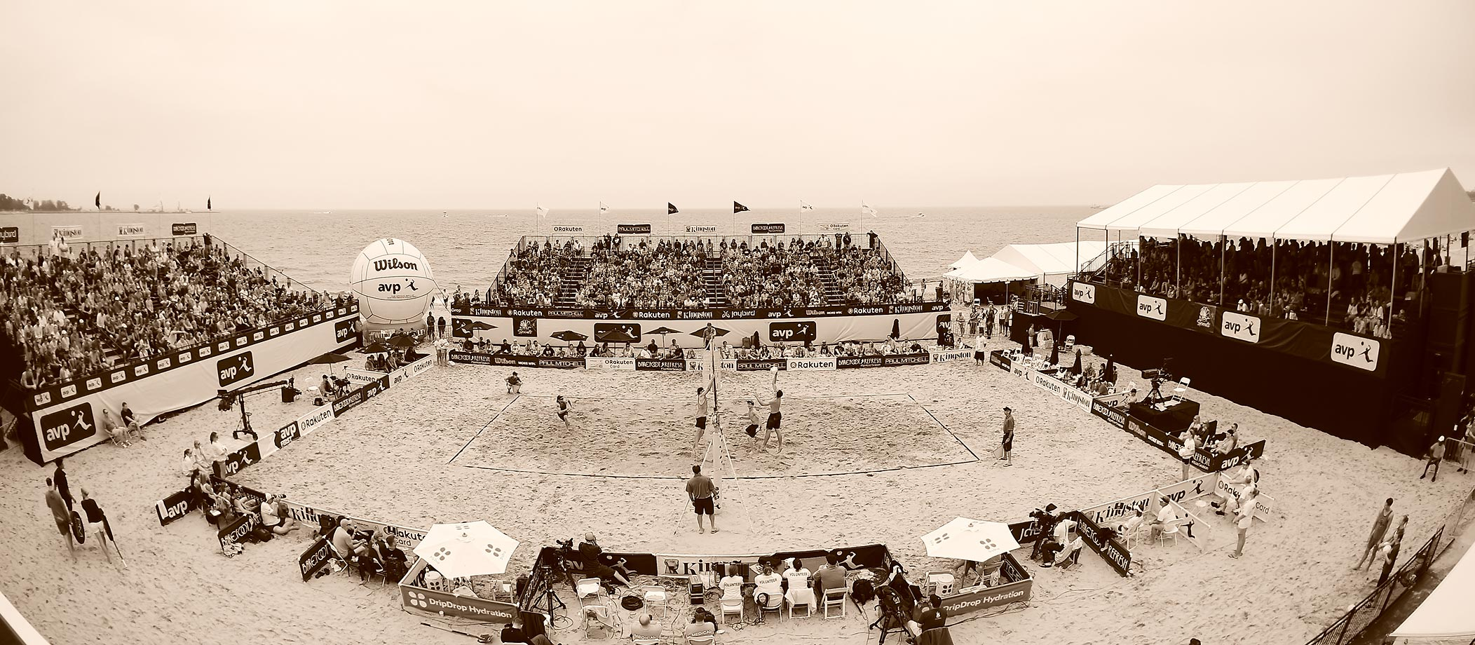 Lake Michigan provided the backdrop for the AVP Kingston Chicago Open.