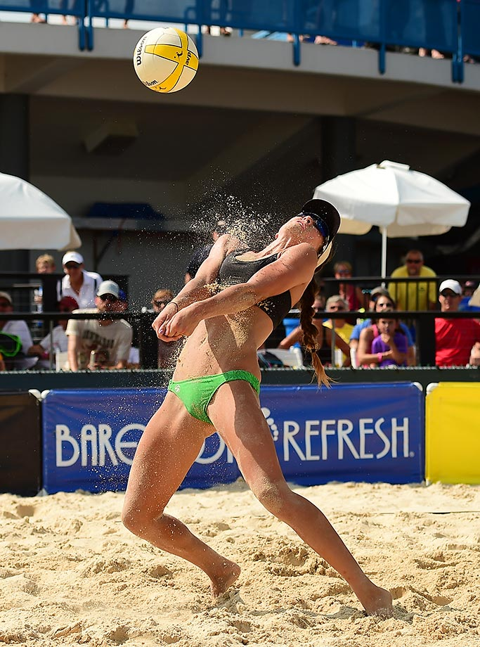 Irene Pollock took a wicked kill off the chest on Saturday.
