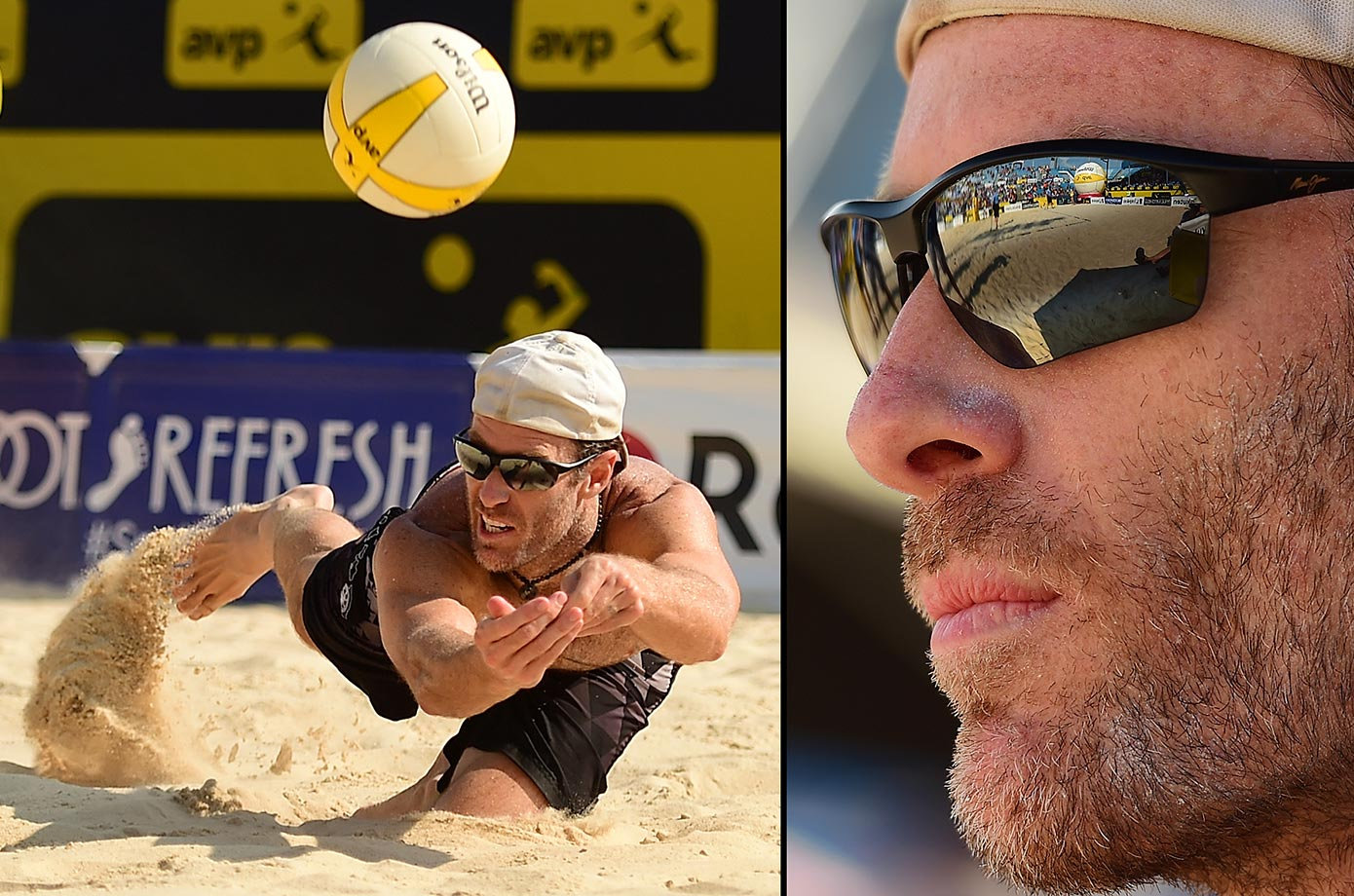 Johnny Hyden came up with big plays all weekend. He became one of the oldest champions on the AVP tour. He will turn 43 in October.