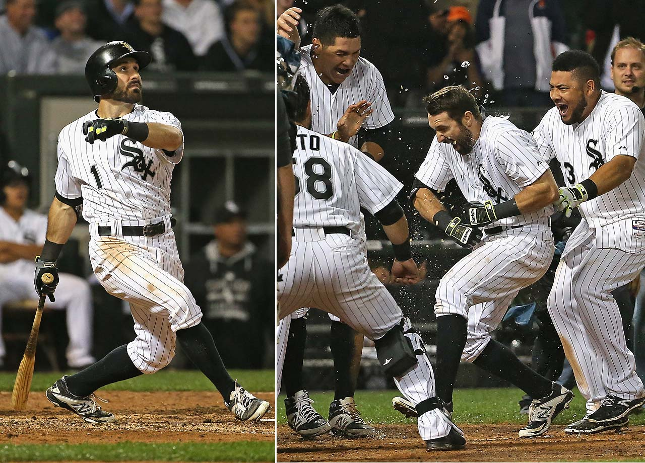 Adam Eaton of the Chicago White Sox hit a solo shot in the 11th inning on July 8 to defeat the Toronto Blue Jays 7-6.