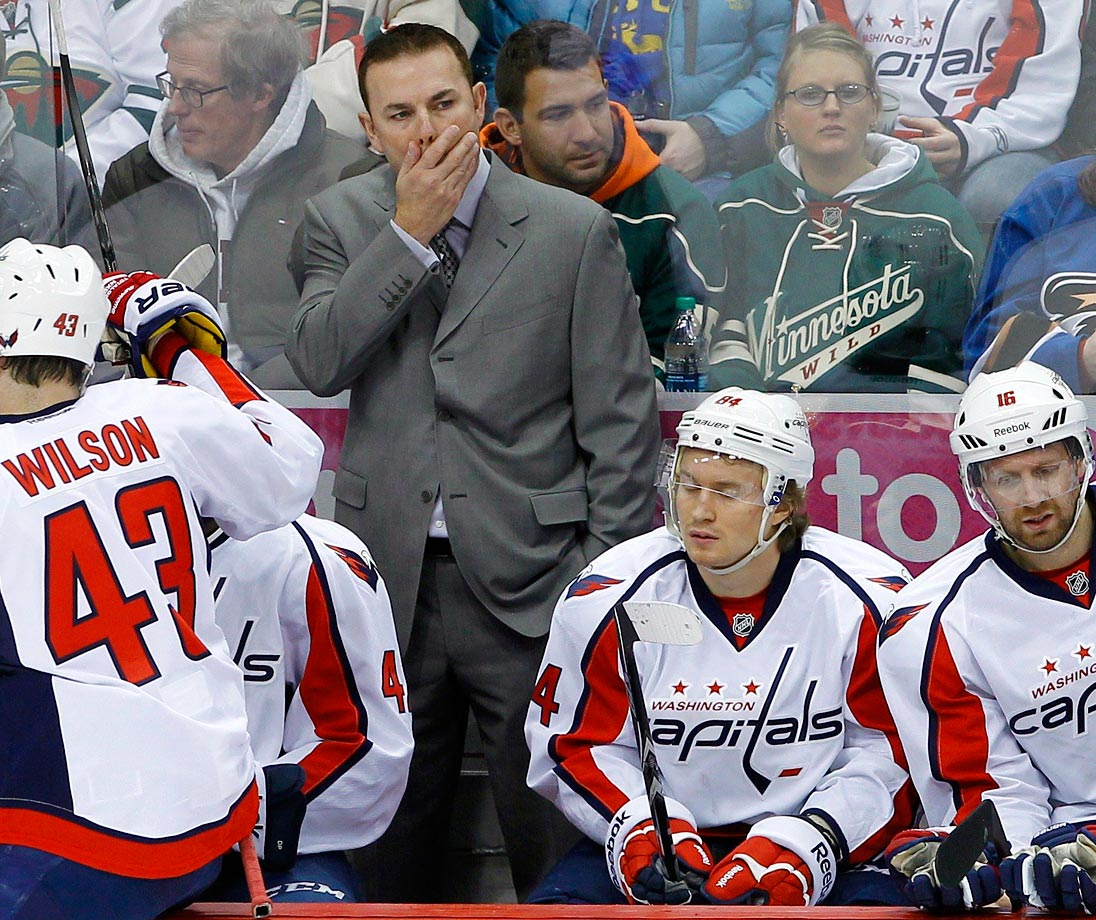 After missing the playoffs for the first time since 2006-07, the Capitals fired both head coach Adam Oates and GM George McPhee on April 26.  Oates was 65-48-17 in two seasons behind the Washington bench.   The Caps owned the worst record in the league when scoring two or fewer goals in the 2013-14 season at 0-25-6, and they went 1-41-8 during Oates' tenure. That inability to pull points out of low-scoring games sealed his fate.