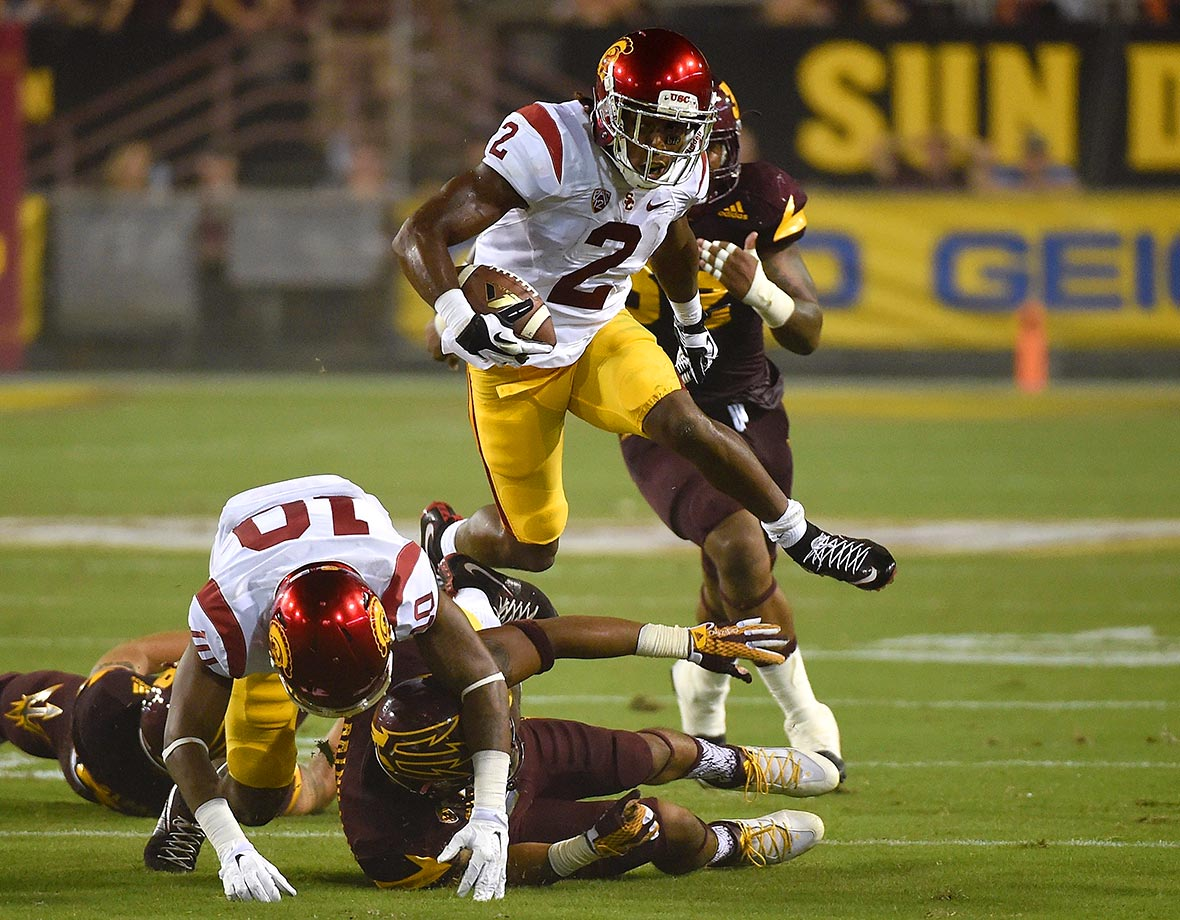 One of the most dynamic players in the Pac-12, Jackson shined in all three phases of the game in 2015. He was the Trojans' primary return man, returning two punts for touchdowns. He also was a starting cornerback, intercepting one pass and returning it 46 yards for a touchdown. He spent time at wide receiver, too, and caught 27 passes for 414 yards with two touchdowns while adding seven rushes for 36 yards on the ground.