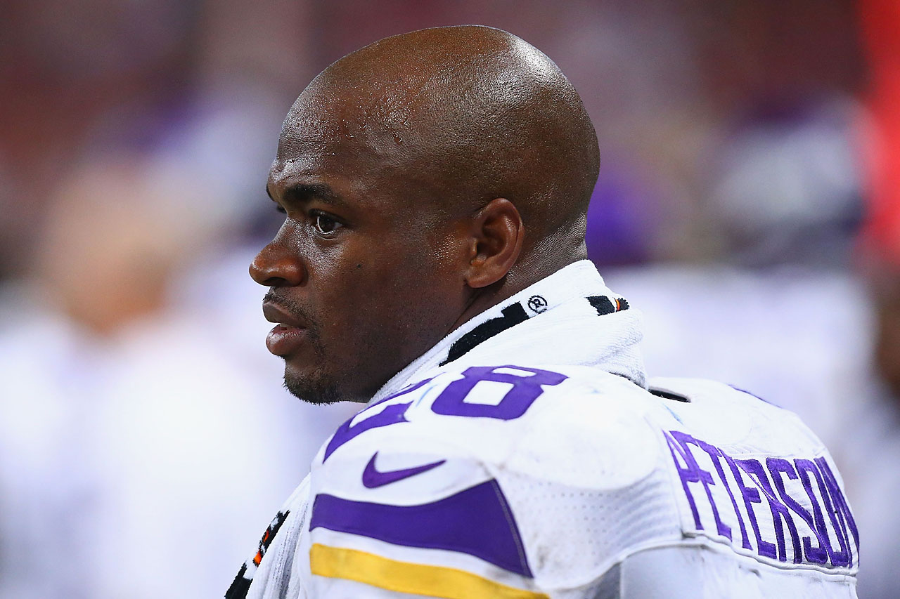 The Minnesota Vikings running back was suspended for the final 15 games of the 2014 season after it was learned he had disciplined his 4-year-old son by hitting him with a wooden switch.