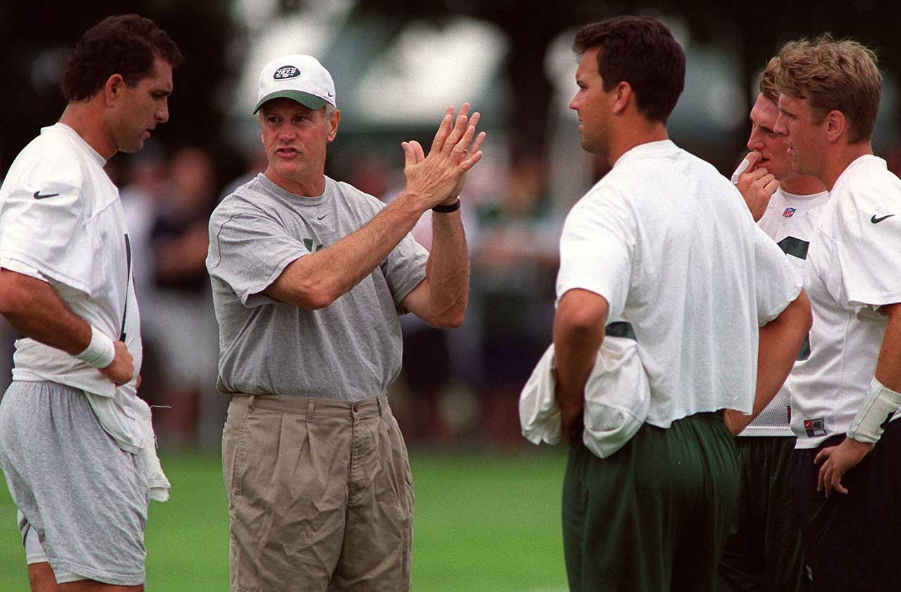 The season was preceded by a burned-out Bill Parcells handing the coaching reins to defensive coordinator Bill Belichick, who quit the next day. That left it to Groh, who led the Jets to a 9-7, non-playoff season, before resigning to take the head coaching job at Virginia. Parcells surrendered his director of football operations position 10 days later.