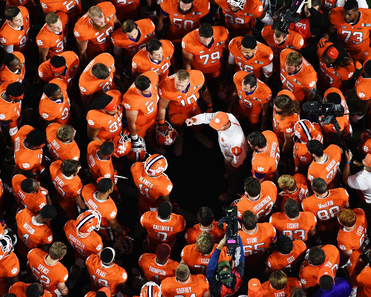 Dabo Swinney and the Clemson Tigers.