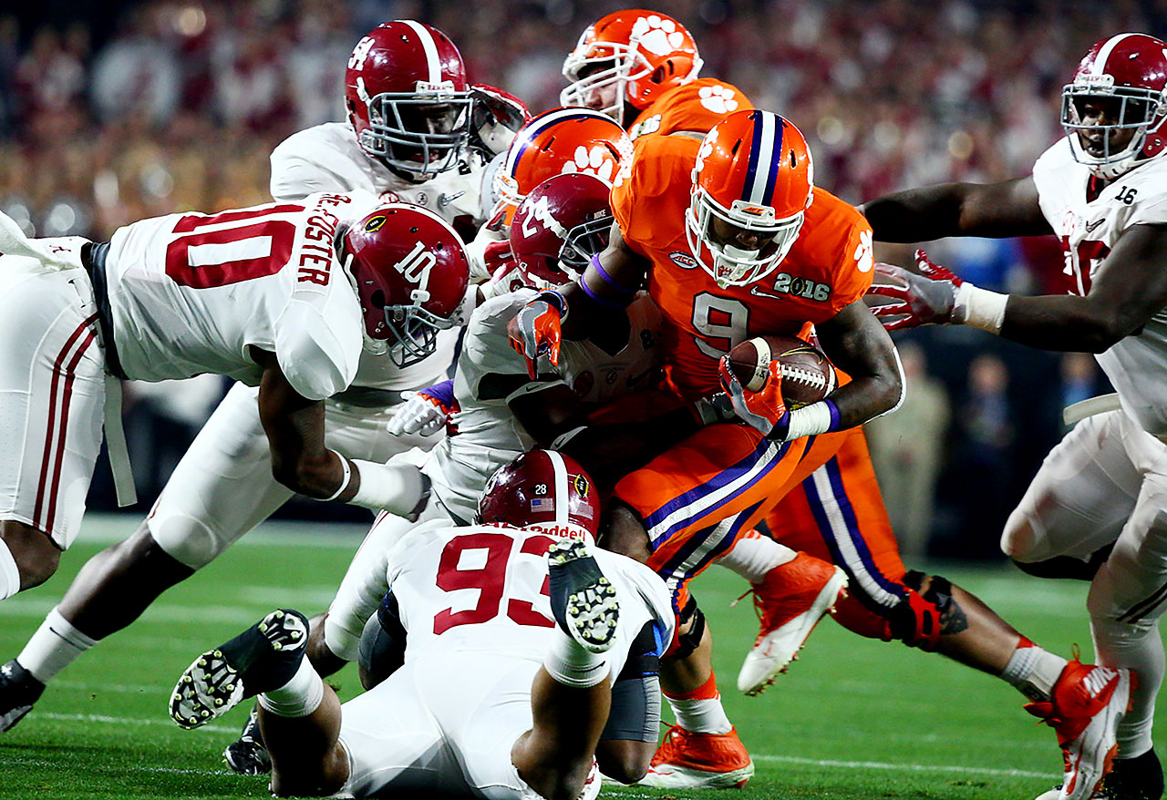 The Alabama defense had its hands full with the never-say-quit Tigers.
