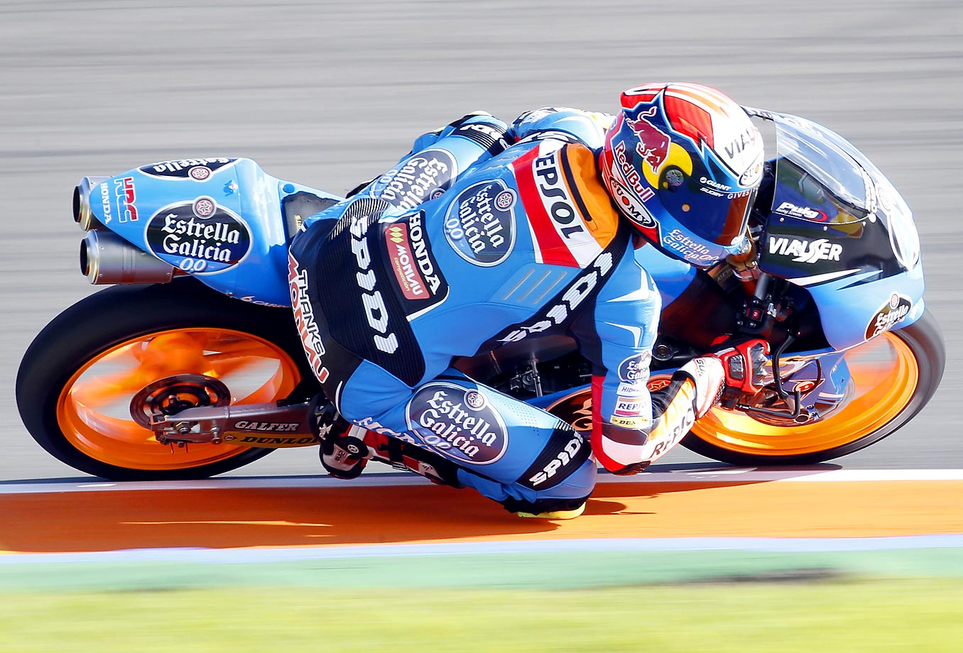 Alex Marquez of Spain rides during free practice at Spain's Valencia Motorcycle Grand Prix, the last race of the season.
