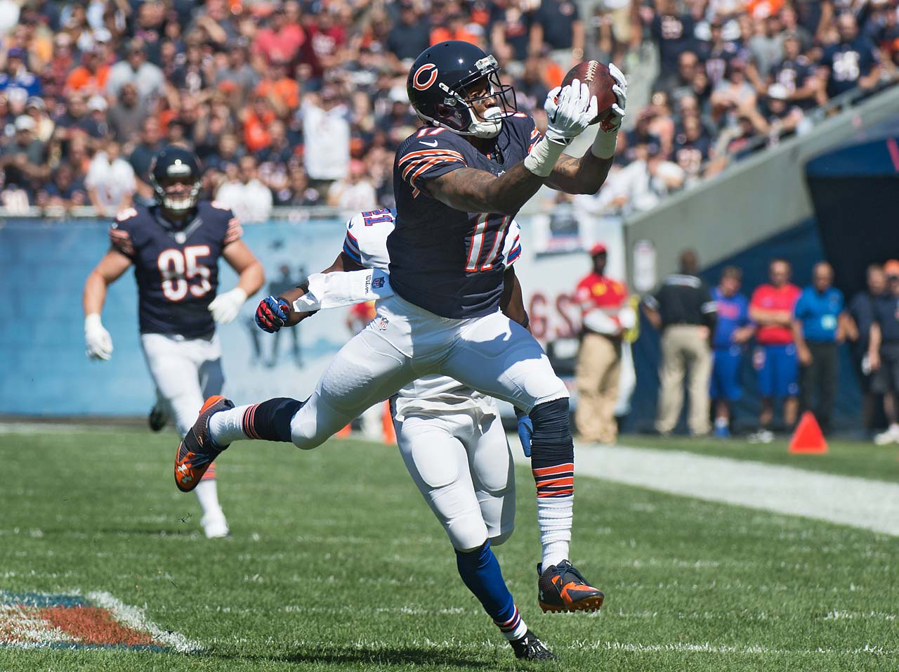 Alshon Jeffery didn't score against the Bills but did pull in five passes for 71 yards.