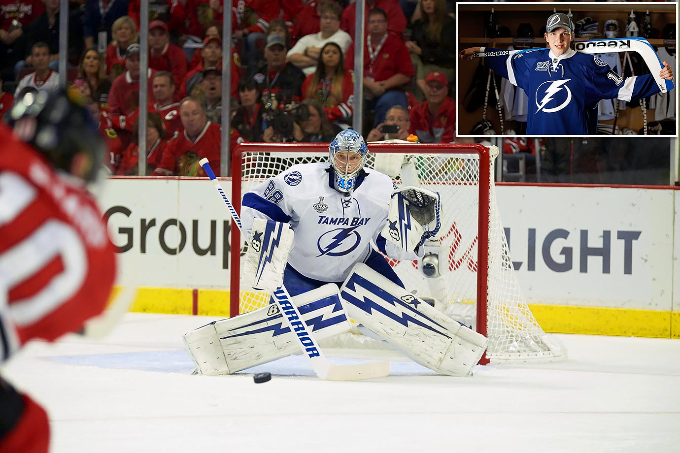 "With a ""safe"" 2012 pick in their pocket (Slater Koekkoek at 10), the Lightning reached to take Vasilevskiy, the top-ranked goalie in that year's class, with the No. 19 they got from Detroit for Kyle Quincey on Feb. 21 that year. The big Russian has lived up to his early hype, showcasing the size, composure and athleticism that could see him become the team's No. 1 in 2016-17."