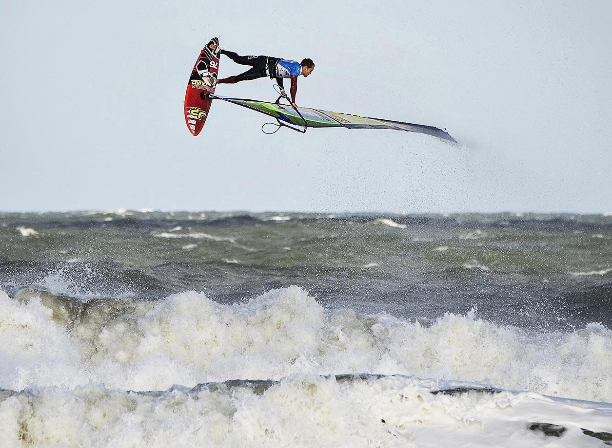 Antoine Martin during the KIA Cold Hawaii PWA World Cup in Denmark.