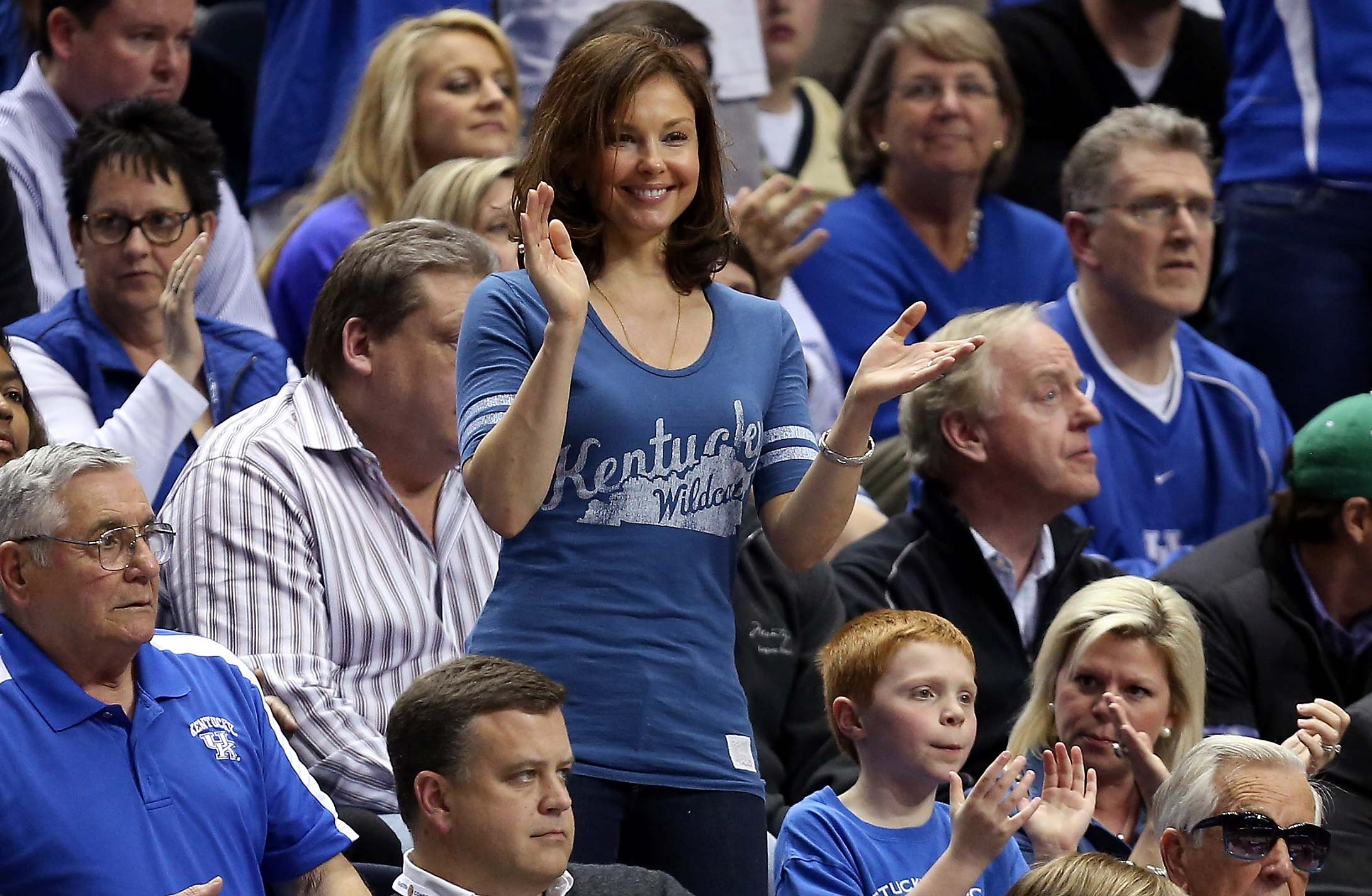 Ashley Judd during the quarterfinals of the 2013 SEC tournament in Nashville.