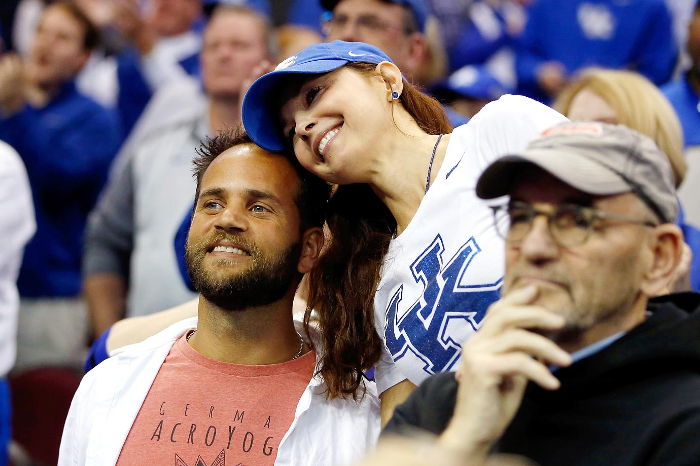 Ashley Judd is relieved after Kentucky defeats Notre Dame 68-66 in the Midwest Regional.