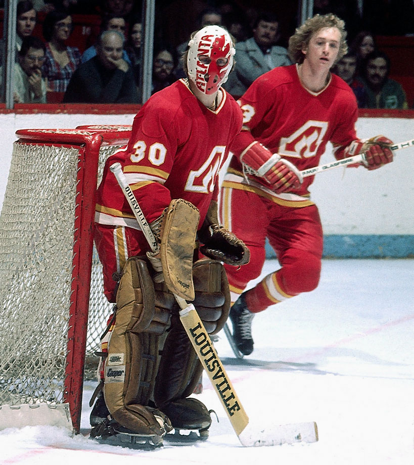 The NHL's first foray in Atlanta—the owners of the NBA's Hawks were awarded the franchise—did not go well despite the Flames making the playoffs in six of their first eight seasons. Five first round exits didn't help, but the city's fans were apathetic and the team struggled financially, thanks in part to receiving little TV revenue. In 1980, principal owner Tom Cousins sold the team to avoid bankruptcy. It was hoped that the Flames would remain in Atlanta, but buyer Nelson Skalbania moved them to Calgary in time for the 1980-81 season.                                           All-time regular season record: 1,491-1,279-379-105; Postseason appearances: 26; Stanley Cups: 1