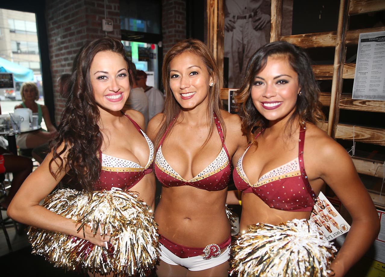 The Washington Redskins cheerleaders had their second annual Burgundy & Gold football game on June 14. Here are some photos.