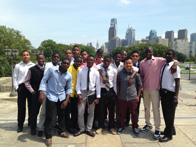 Bakary and the South Bronx United team visits Philadelphia.