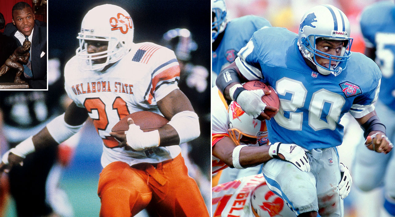 Sanders had arguably the greatest season in NCAA history in 1988, setting single-season records with 2,628 yards rushing, 3,249 total yards, 234 points and 39 touchdowns on the way to the Heisman. He continued the torrid pace in the NFL, making the Pro Bowl all 10 of his seasons and finishing his career with over 15,000 yards before retiring in 1999.