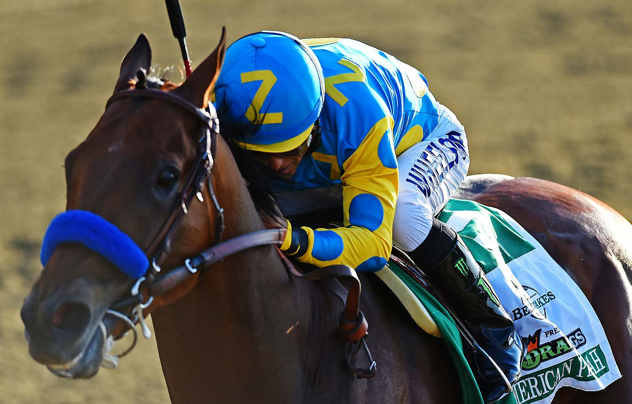 American Pharoah ran the final quarter-mile in 24.32 seconds, faster than Secretariat's time of 25 seconds in winning the 1973 Belmont.  (Text credit: AP)