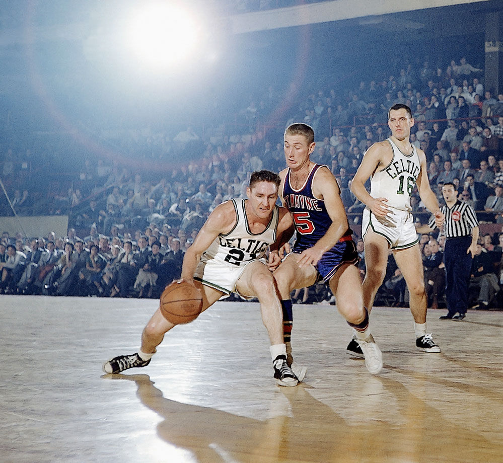 Sharman served in the Navy during World War II, from 1944 to '46. In the NBA with the Boston Celtics, Sharman made eight All-Star game appearances and won four titles. He teamed with Bob Cousy to form one of the league's best backcourts.